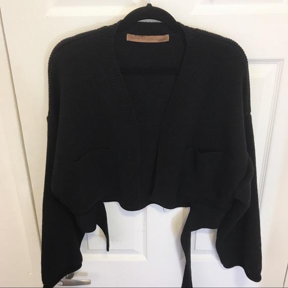 062b3eeaa29 Stylenanda black cropped ribbed cardigan. M_5add0bbe9cc7ef888a18e7eb